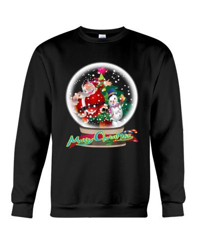 Funny Merry Christmas Snow Globe Santa Claus