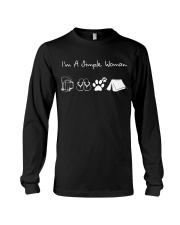 I'm A Simple Woman Beer Flip-flop Dog Tent Long Sleeve Tee thumbnail