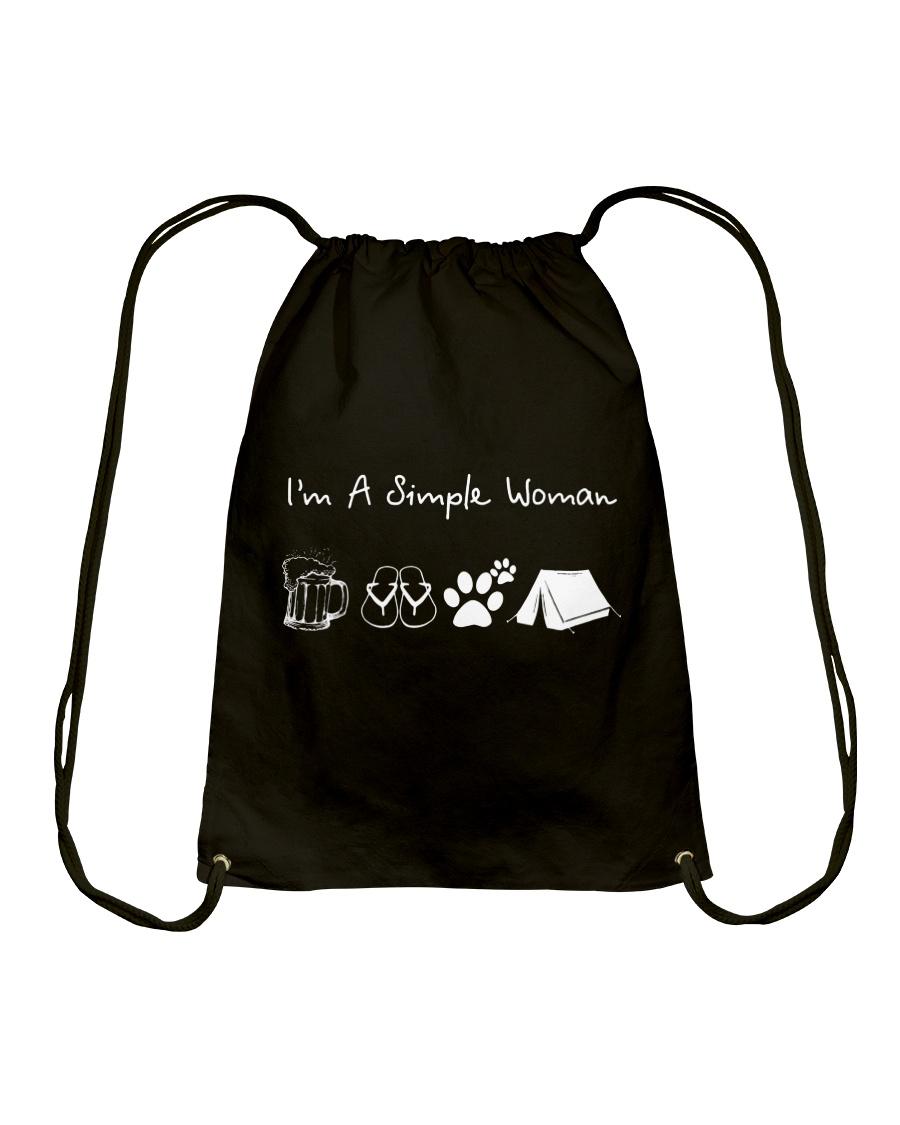 I'm A Simple Woman Beer Flip-flop Dog Tent Drawstring Bag