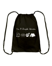 I'm A Simple Woman Beer Flip-flop Dog Tent Drawstring Bag thumbnail