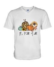 Pekingese V-Neck T-Shirt thumbnail