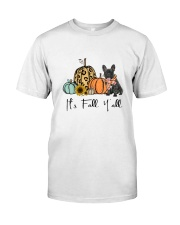 Black Frenchie Classic T-Shirt front