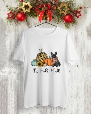 Black Frenchie Classic T-Shirt lifestyle-holiday-crewneck-front-2