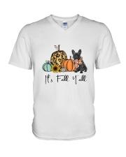 Black Frenchie V-Neck T-Shirt thumbnail