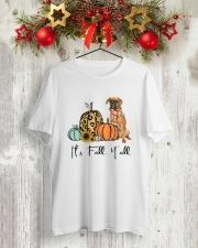 Boxer dog Classic T-Shirt lifestyle-holiday-crewneck-front-2