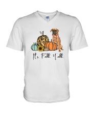 Boxer dog V-Neck T-Shirt thumbnail