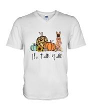 Belgian Malinois V-Neck T-Shirt thumbnail