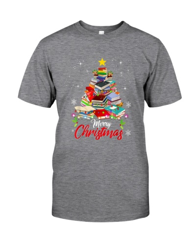 Merry Christmas Tree Shirt Love Reading