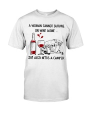 A Woman Cannot Survive On Wine Alone Classic T-Shirt thumbnail