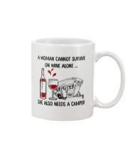 A Woman Cannot Survive On Wine Alone Mug thumbnail