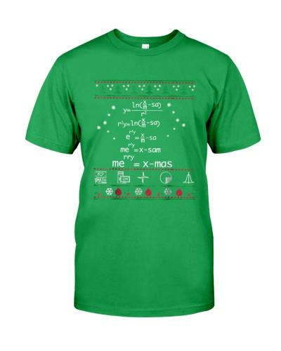 Math Christmas Sweater Shirt-Merry Xmas
