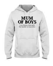Mum Of Boys Hooded Sweatshirt thumbnail
