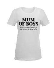 Mum Of Boys Ladies T-Shirt women-premium-crewneck-shirt-front