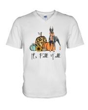 Doberman V-Neck T-Shirt thumbnail