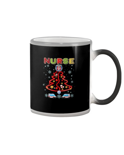 Funny Nurse Christmas Tree Merry Xmas