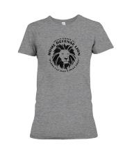 Home Defense Lion Premium Fit Ladies Tee thumbnail