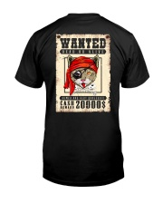 Pirate Cat Wanted  Classic T-Shirt back