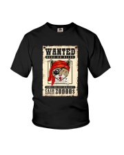 Pirate Cat Wanted  Youth T-Shirt thumbnail