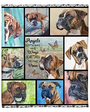 "Boxer dog Fleece Blanket - 50"" x 60"" front"