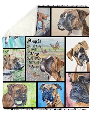 "Boxer dog Sherpa Fleece Blanket - 50"" x 60"" thumbnail"