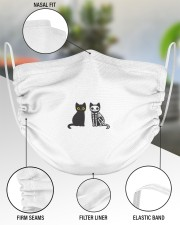 Halloween Cat Cutie 2 Layer Face Mask - Single aos-face-mask-2-layers-lifestyle-front-51