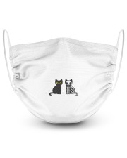 Halloween Cat Cutie 2 Layer Face Mask - Single front