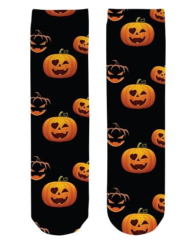 Halloween Socks Jack o Lantern socks