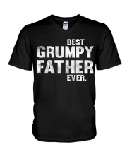 best grumpy father ever V-Neck T-Shirt thumbnail
