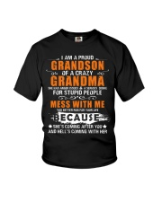 I Am A Proud Grandson Of A Crazy Grandma Youth T-Shirt tile