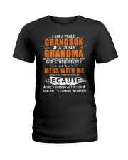 I Am A Proud Grandson Of A Crazy Grandma Ladies T-Shirt tile