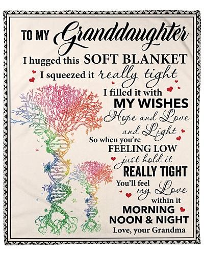 Granddaughter I Hugged This Soft Blanket Grandma