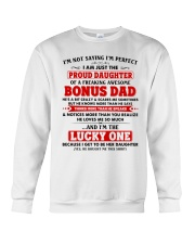 I'm Just The Proud Daughter Of Awesome Bonus Dad Crewneck Sweatshirt tile