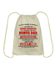 I'm Just The Proud Daughter Of Awesome Bonus Dad Drawstring Bag tile