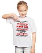 I'm Just The Proud Daughter Of Awesome Bonus Dad Youth T-Shirt lifestyle-youth-tshirt-front-2