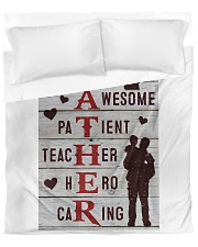 The big Daddy helpful awesome patient teacher hero Duvet Cover - Queen thumbnail