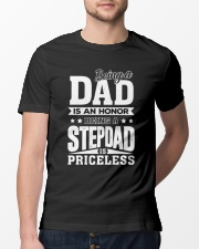 being step dad is priceless Classic T-Shirt lifestyle-mens-crewneck-front-13