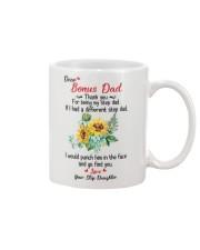 Dear Bonus Dad Thank You For Being My Stepdad Mug front