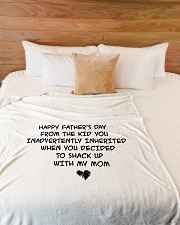 """MD2005047-HappyFatherDayFromKidUday Large Fleece Blanket - 60"""" x 80"""" aos-coral-fleece-blanket-60x80-lifestyle-front-02"""