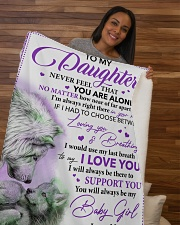 """Granddaughter I Hugged This Soft Blanket Grandma Sherpa Fleece Blanket - 50"""" x 60"""" aos-sherpa-fleece-blanket-50x60-lifestyle-front-09b"""