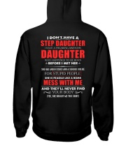 Awesome Step Daughter -  1 day left Hooded Sweatshirt back