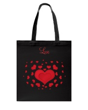 Hearts and Love Tote Bag front