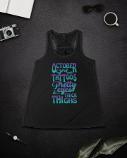 OCTOBER GIRL WITH TATTOOS Ladies Flowy Tank lifestyle-bellaflowy-tank-front-4