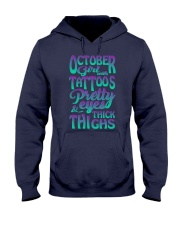 OCTOBER GIRL WITH TATTOOS Hooded Sweatshirt thumbnail