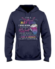 I AM A TATTOOED MAY GIRL Hooded Sweatshirt thumbnail