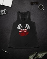 TAKEN BY A CRAZY and  SEXY BEARDED GUY Ladies Flowy Tank lifestyle-bellaflowy-tank-front-4