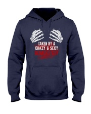 TAKEN BY A CRAZY and  SEXY BEARDED GUY Hooded Sweatshirt thumbnail
