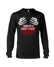 TAKEN BY A CRAZY and  SEXY BEARDED GUY Long Sleeve Tee thumbnail