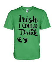 Irish I could drink - mommy to be V-Neck T-Shirt thumbnail
