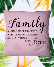 Make it the meaningful message to your family Square Pillowcase aos-pillow-square-front-lifestyle-29