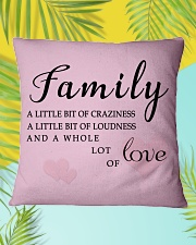 Make it the meaningful message to your family Square Pillowcase aos-pillow-square-front-lifestyle-30